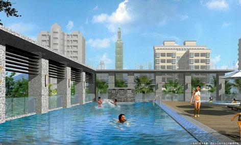 巴黎花园-游泳池